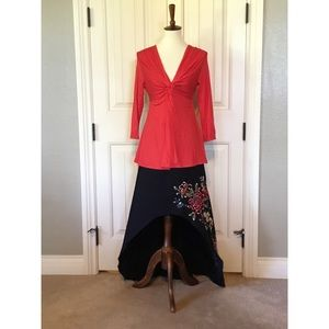 High low embroidered beautiful skirt